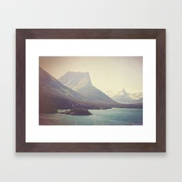Retro Glacier Framed Art Print