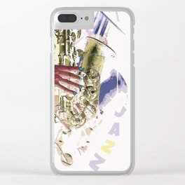Gentle Sax Clear iPhone Case