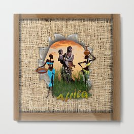 People from Africa Metal Print