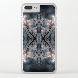 Tree and clouds, mirrored Clear iPhone Case