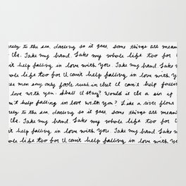 Can't Help Falling in Love Script Rug