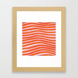 electric zebra stripes Framed Art Print