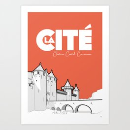 Cité de Carcassonne - Chateau Comtal Art Print