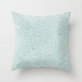 Abstract Brush Strokes, Sea Foam Throw Pillow