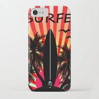 surf iPhone & iPod Cases featuring Surf by mark ashkenazi