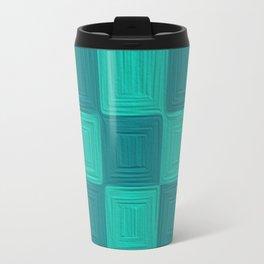 Blue Scales  Metal Travel Mug