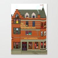 royal tenenbaums Canvas Prints featuring The Royal Tenenbaums by Shanti Draws