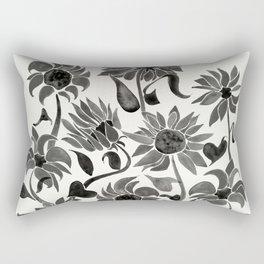 Sunflowers – Black Palette Rectangular Pillow