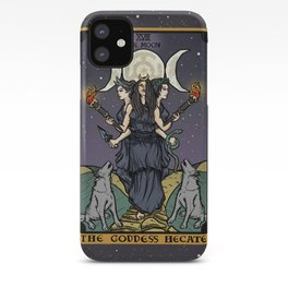 The Godddess Hecate In Tarot Card iPhone Case