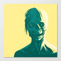 zombie Canvas Prints featuring Zombie by Jasn