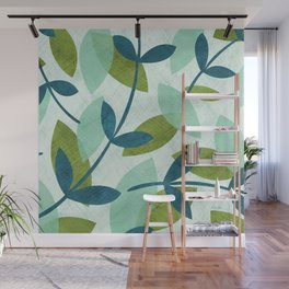Simple Leaves Wall Mural