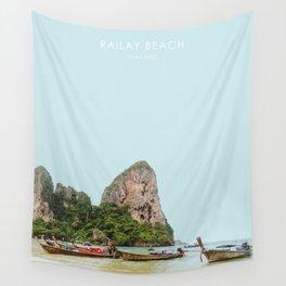 Railay Beach, Thailand Artwork Wall Tapestry