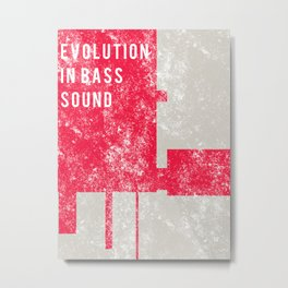 Evolution In Bass Sound Metal Print