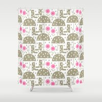 rain Shower Curtains featuring Rain by ottomanbrim