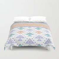 pee wee Duvet Covers featuring Tee-Pee by According to Panda