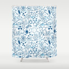 School chemical pattern #2 Shower Curtain