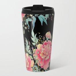 Gipsy paeonia in black Travel Mug