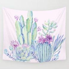 Mixed Cacti Pink #society6 #buyart Wall Tapestry