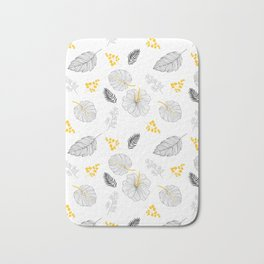 Leaves Pattern Bath Mat