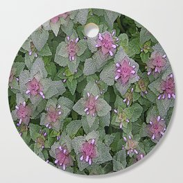 WILD SALVIA MAUVE AND GRAY GREEN Cutting Board