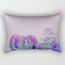 Little succulents and cactus in pot Rectangular Pillow