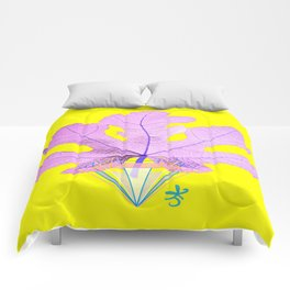 Fig Leaf Diamond Christmas Yellow Golden Comforters