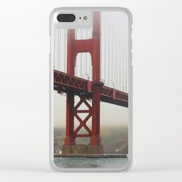 Golden Gate Fog Clear iPhone Case