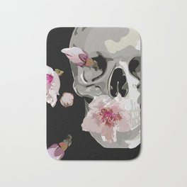 """""""Spring"""" Skull and flowers Bath Mat"""