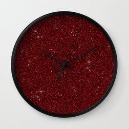 C13D Red Glitter Wall Clock