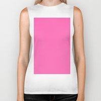 hot pink Biker Tanks featuring Hot pink by List of colors