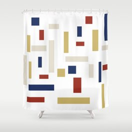 Abstract Theo van Doesburg Composition VIII (White) The Three Graces Shower Curtain
