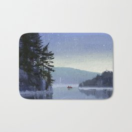 rocky cliff Bath Mat