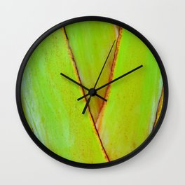 Organic travellers palm tree pattern Wall Clock
