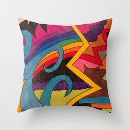 Comfort and Courage Throw Pillow