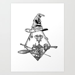 Wizard Items Art Print