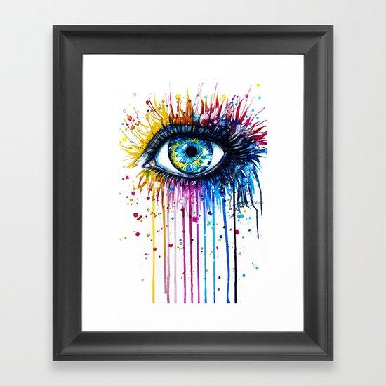 """Rainbow Eye"" Framed Art Print"