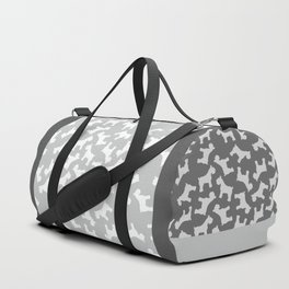 Silver Schnauzers - Simple Dog Silhouettes Pattern Duffle Bag