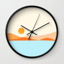 Desert Sea Views / Abstract Landscape Series Wall Clock