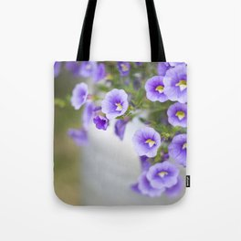 Violets in a Milk Churn Tote Bag