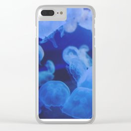 Jellyfish Land - Blue Heaven Clear iPhone Case
