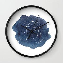 libra constellation zodiac Wall Clock