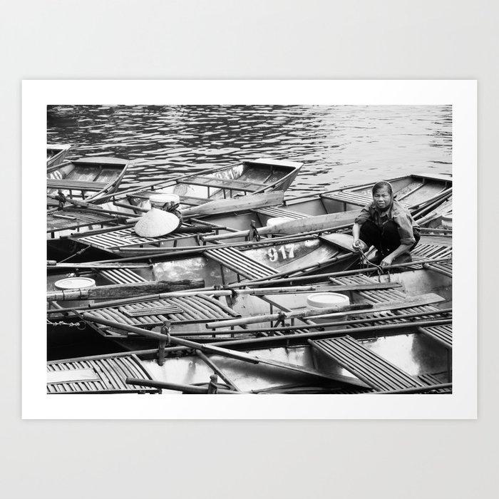 Vietnamese Boats Fine Art Print Art Print