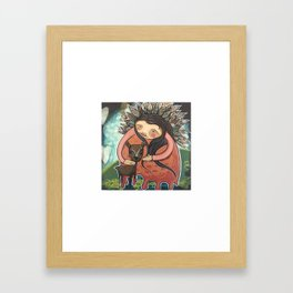 Dear Mother Deer Mother Framed Art Print