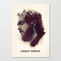 kubrick Canvas Prints featuring Stanley Kubrick by Mahdi Chowdhury