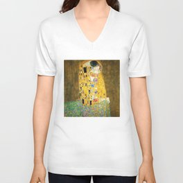 Gustav Klimt The Kiss Unisex V-Neck