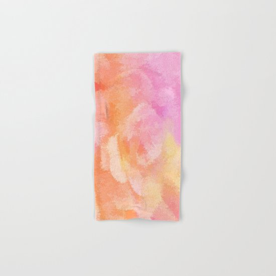 Soft Pastel Floral Blend Hand & Bath Towel