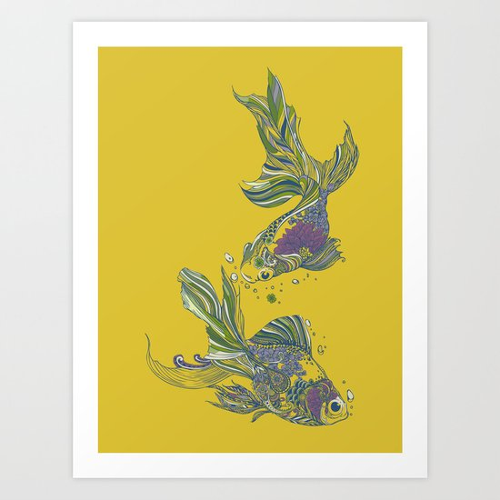 Blooming in Deep Art Print