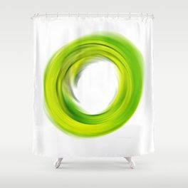 Soft Green Enso - Abstract Art By Sharon Cummings Shower Curtain