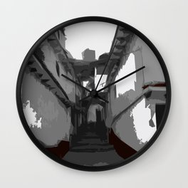 Town Alley Wall Clock