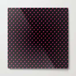 BLACK & HOT PINK BOMB DIGGITYS ALL OVER SMALL Metal Print